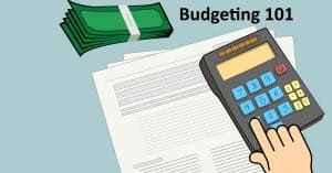 Budgeting with worksheet and calculator