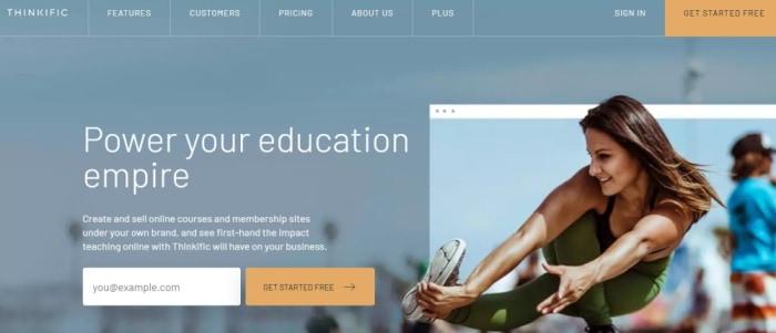 Thinkific online course platform
