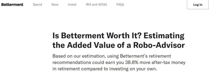 Betterment robo-advisor