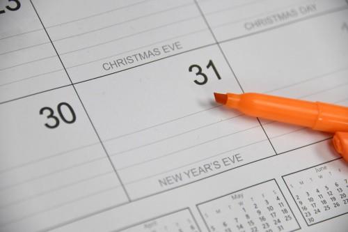 30 days on a calendar