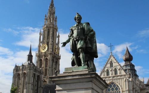 The city of Antwerp in Belgium